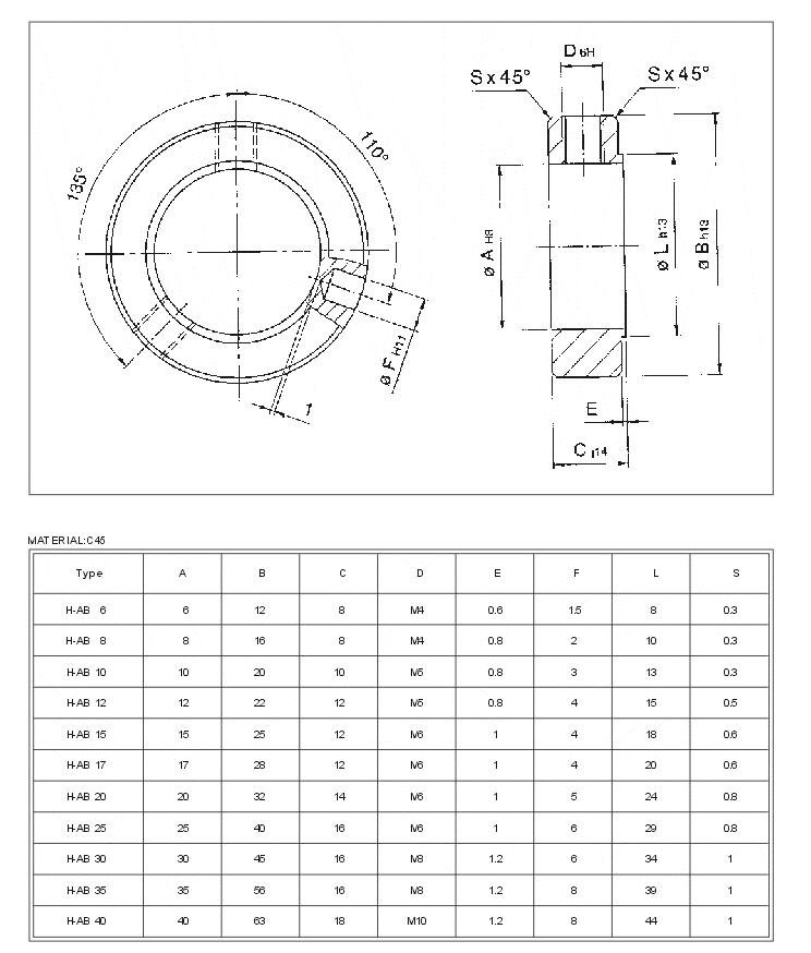 Shaft Collar (H-AB Type)